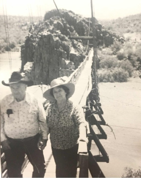 Frank and Elsie Auza at Verde River Sheep Bridge
