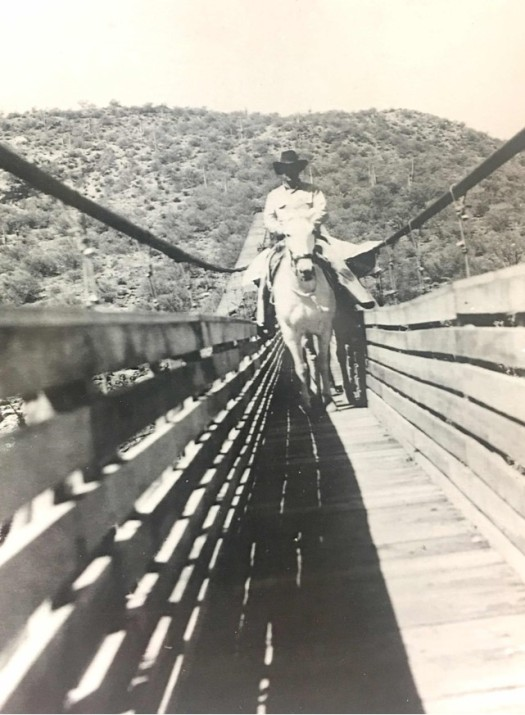 Frank Auza on Verde River Sheep Bridge