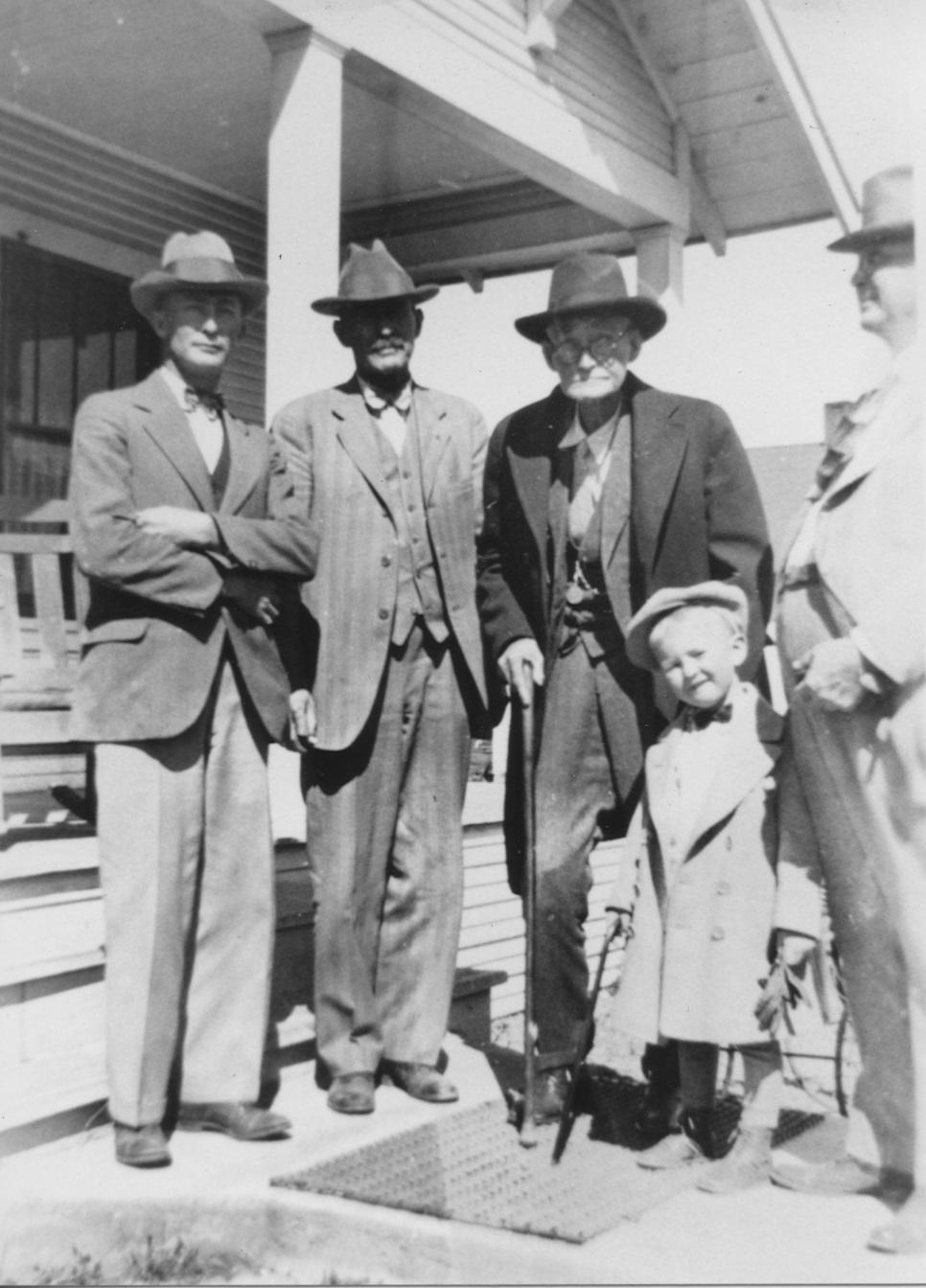 WPL2539 Reuben Dial, Tom Hudspeth, Street Hudspeth, and Gene Dial September 1927